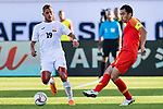 Feng Xiaoting of China (R) fights for the ball with Vitalij Lux of Kyrgyz Republic (L) during the AFC Asian Cup UAE 2019 Group C match between China (CHN) and Kyrgyz Republic (KGZ) at Khalifa Bin Zayed Stadium on 07 January 2019 in Al Ain, United Arab Emirates. Photo by Marcio Rodrigo Machado / Power Sport Images