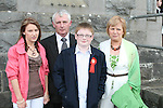 Anthony McManamon with his family Sarah, Frank and Maura at his Confirmation in Tullyallen Church...Photo NEWSFILE/Jenny Matthews.(Photo credit should read Jenny Matthews/NEWSFILE)....This Picture has been sent you under the condtions enclosed by:.Newsfile Ltd..The Studio,.Millmount Abbey,.Drogheda,.Co Meath..Ireland..Tel: +353(0)41-9871240.Fax: +353(0)41-9871260.GSM: +353(0)86-2500958.email: pictures@newsfile.ie.www.newsfile.ie.FTP: 193.120.102.198.