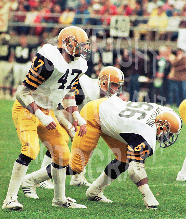 Carmelo Carteri, Grover Covington Hamilton Tiger Cats 1983. Photo F. Scott Grant