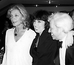 Lauren Bacall, Phyllis Newman and Adolf Green attend the Opening night performance of 'West Side Story'  in New York City, February 14, 1980.
