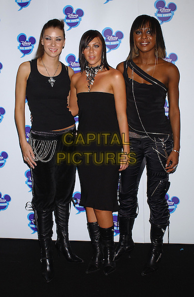 LIBERTY X.Disney Channel Kids Awards At The Royal Albert Hall, London.Ref: Ten.full length, full-length, little black dress, black boots, strapless.www.capitalpictures.com.sales@capitalpictures.com.©Capital Pictures