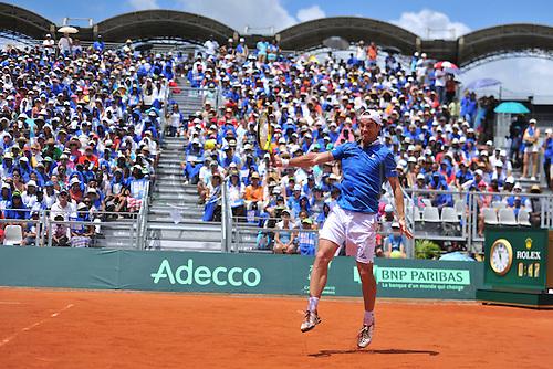 06.03.2016. Vélodrome Amédée Detraux, Guadeloupe, France. Davis Cup 1st round. France versus Canada.  Richard Gasquet (Fra)