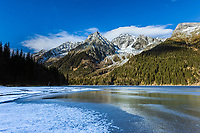 Italy, South Tyrol, Valle di Anterselva, Lago di Anterselva at Rieserferner-Ahrn Nature Park | Italien, Suedtirol, Antholzer Tal, Seitental des Pustertals, der Antholzer See im Naturpark Rieserferner-Ahrn