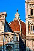 The Duomo (cathedral) and Campanile (tower on right), Florence, Italy
