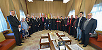 An international ecumenical delegation organized by the World Council of Churches poses with Iraqi church leaders following a discussion on January 23, 2017, in Erbil, in northern Iraq's autonomous Kurdistan region..