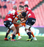 Matias Moroni of the Jaguares during the Super Rugby quarter-final match between the Emirates Lions and the Jaguares at the Emirates Airlines Park Stadium,Johannesburg, South Africa on Saturday, 21 July 2018. Photo: Steve Haag / stevehaagsports.com