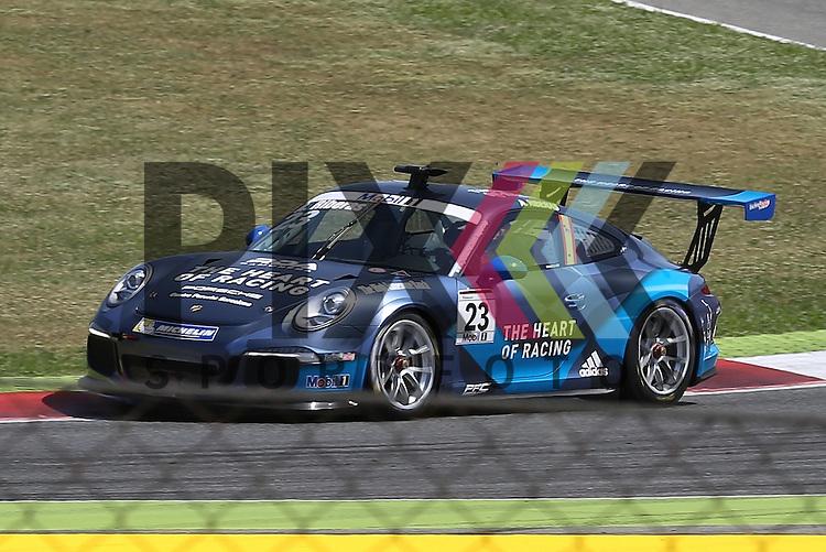 Barcelona, 10.05.15, Motorsport, Porsche Mobil 1 Supercup 2015 : Alex Riberas (The Heart of Racing by Lechner, #23)<br /> <br /> Foto &copy; P-I-X.org *** Foto ist honorarpflichtig! *** Auf Anfrage in hoeherer Qualitaet/Aufloesung. Belegexemplar erbeten. Veroeffentlichung ausschliesslich fuer journalistisch-publizistische Zwecke. For editorial use only.