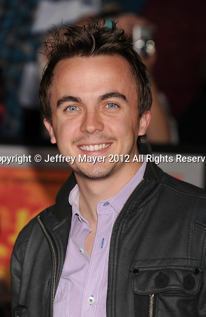 LOS ANGELES, CA - FEBRUARY 22: Frankie Muniz attends the 'John Carter' Los Angeles premiere held at the Regal Cinemas L.A. Live on February 22, 2012 in Los Angeles, California.