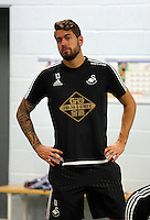 Pictured: Kristoffer Nordfeldt Tuesday 30 June 2015<br /> Re: Pre-season assessment of Swansea City FC players on the grounds of Swansea University, south Wales, UK