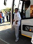 FUDBAL, NELSPRUIT, 24. Jun. 2010. - Fudbaler Srbije Dejan Stankovic na aerodromu u Nelspruitu. Reprezentacije Srbije zavrsila je ucesce na Svetskom prvenstvu u Juznoj Africi nakon poraza od Australije rezultatom 2:1. Foto: Nenad Negovanovic
