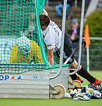 AMSTELVEEN  -  Wiegert Schut (Adam)  Hoofdklasse hockey dames ,competitie, heren, Amsterdam-Pinoke (3-2)  . COPYRIGHT KOEN SUYK