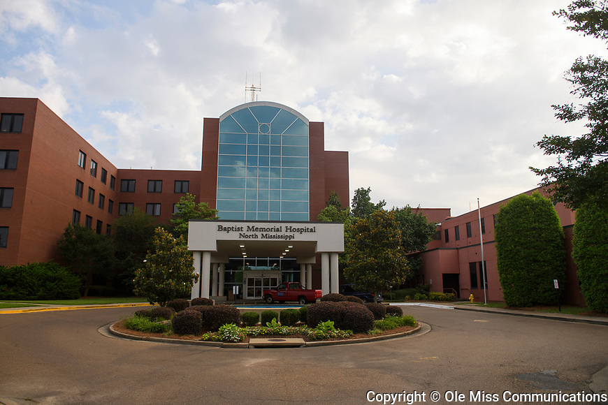 Baptist Memorial Hospital - North Mississippi. Photo by Thomas Graning/Ole Miss Communications
