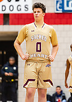 WATERBURY, CT. 10 January 2020-011020BS513 - Sacred Heart's Connor Tierney gets ready before the start of a NVL cross city Boys Basketball game between Sacred Heart and Crosby at the Palace at Crosby High on Friday. Bill Shettle Republican-American