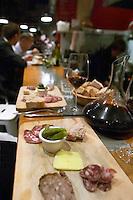 charcuteries wine and bread bar counter aoc restaurant avignon rhone france