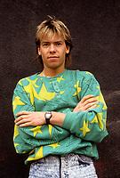 Paul Sarrasin, VJ a Musique plus, circa 1987<br /> <br /> PHOTO : Agence Quebec Presse