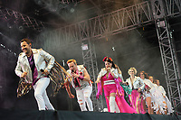 LONDON, ENGLAND - JULY 10: Lee Latchford-Evans, Ian &quot;H&quot; Watkins, Lisa Scott-Lee and Claire Richards of 'Steps' performing at Kew the Music, Kew Gardens on July 10, 2018 in London, England.<br /> CAP/MAR<br /> &copy;MAR/Capital Pictures