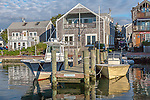 Waterfront of Edgartown Harbor in Edgartown, Marthas Vineyard, Massachusetts, USA