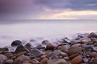 A rocky beach along the gaviota coast
