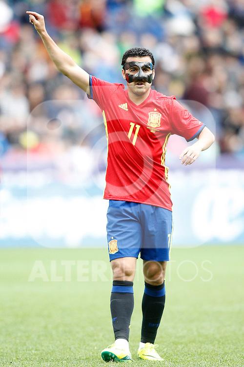 Spain's Pedro Rodriguez during friendly match. June 1,2016.(ALTERPHOTOS/Acero)