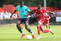 Anthony Cook of Charlton takes on Charlton's Anfernee Diijksteel during Welling United vs Charlton Athletic, Friendly Match Football at the Park View Road Ground on 13th July 2019