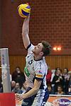 17.01.2018,  Lueneburg GER, VBL, SVG Lueneburg vs Bergische Volleys Solingen im Bild Einzelaktion Hochformat Cody Kessel (Lueneburg #05) / Foto © nordphoto / Witke