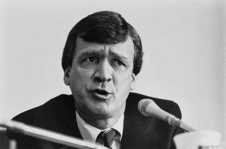 Rep. Peter H. Kostmayer, D-Pa. on April 30, 1991. (Photo by Maureen Keating/CQ Roll Call)