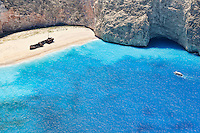 The famous Navagio (shipwreck) in Zakynthos island, Greece