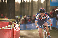Sanne Cant (BEL/Enertherm-BKCP) leading the race and on her way to her 7th consecutive National Title<br /> <br /> 2016 Belgian National CX Championships