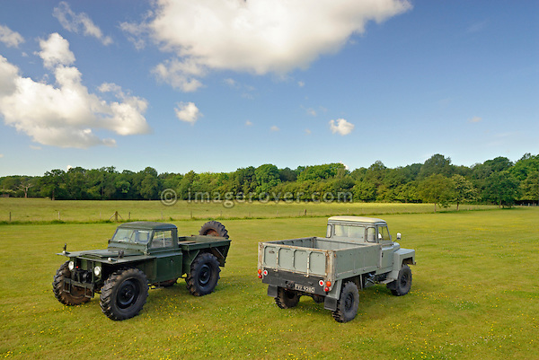 Forest Rover and 129in Lofty. Dunsfold Collection Open Day 2009. NO RELEASES AVAILABLE.