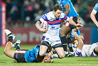 Picture by Allan McKenzie/SWpix.com - 09/02/2018 - Rugby League - Betfred Super League - Wakefield Trinity v Salford Red Devils - The Mobile Rocket Stadium, Wakefield, England - Wakefield's Scott Grix is tackled.