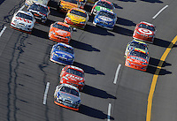 Apr 29, 2007; Talladega, AL, USA; Nascar Nextel Cup Series driver Jamie McMurray (26) leads the field during the Aarons 499 at Talladega Superspeedway. Mandatory Credit: Mark J. Rebilas