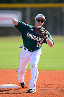 Chicago State University Cougars second baseman William Munoz #16 during practice before a game against the St. Bonaventure Bonnies at South County Regional Park on March 3, 2013 in Punta Gorda, Florida.  (Mike Janes/Four Seam Images)