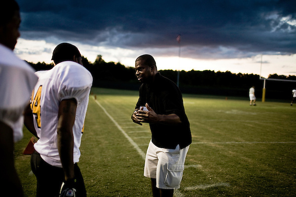 August 23, 2008. Durham, NC..  The Triangle Rattlers beat the High Point Ravens in a game marred by offensive mistakes and unnecessary penalties.