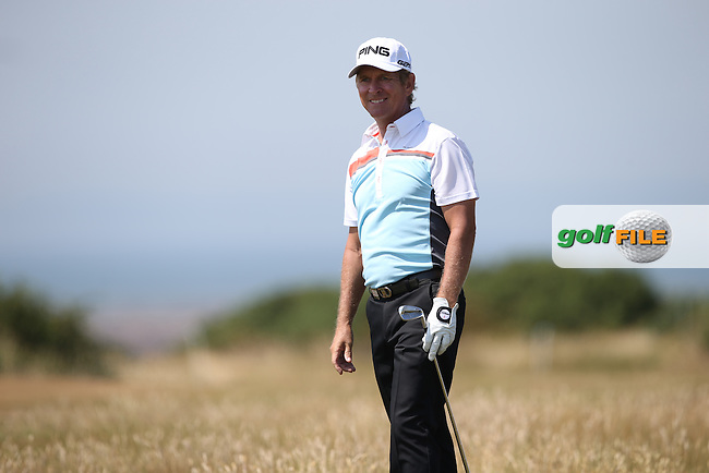 Rick Gibson (CAN) during Round One of the 2014 Senior Open Championship presented by Rolex from Royal Porthcawl Golf Club, Porthcawl, Wales. Picture:  David Lloyd / www.golffile.ie