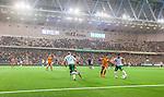 Stockholm 2014-09-21 Fotboll Superettan Hammarby IF - Syrianska FC :  <br /> Vy &ouml;ver Tele2 Arena under matchen mellan Hammarby och Syrianskas som spelades i ett regnv&auml;der<br /> (Foto: Kenta J&ouml;nsson) Nyckelord:  Superettan Tele2 Arena Hammarby HIF Bajen Syrianska FC SFC inomhus interi&ouml;r interior