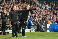 Leeds United manager Marcelo Bielsa shouts instructions to his team from the technical area<br /> <br /> Photographer Alex Dodd/CameraSport<br /> <br /> The EFL Sky Bet Championship - Leeds United v Sheffield United - Saturday 16th March 2019 - Elland Road - Leeds<br /> <br /> World Copyright © 2019 CameraSport. All rights reserved. 43 Linden Ave. Countesthorpe. Leicester. England. LE8 5PG - Tel: +44 (0) 116 277 4147 - admin@camerasport.com - www.camerasport.com