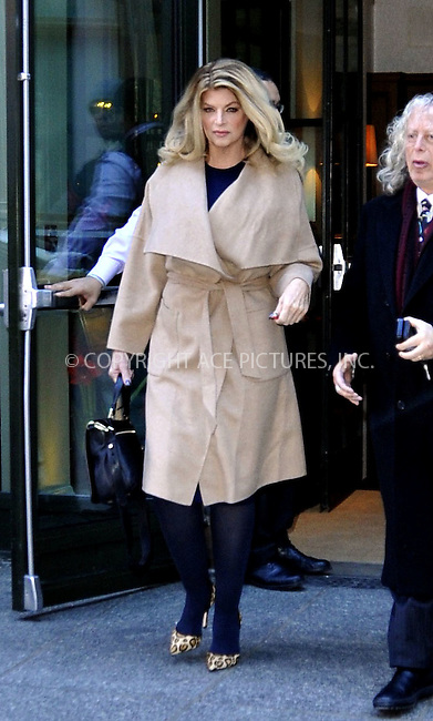 WWW.ACEPIXS.COM<br /> <br /> January 8 2015, New York City<br /> <br /> Actress Kirstie Alley leaves a downtown hotel on January 8 2015 in New York City<br /> <br /> By Line: Curtis Means/ACE Pictures<br /> <br /> <br /> ACE Pictures, Inc.<br /> tel: 646 769 0430<br /> Email: info@acepixs.com<br /> www.acepixs.com