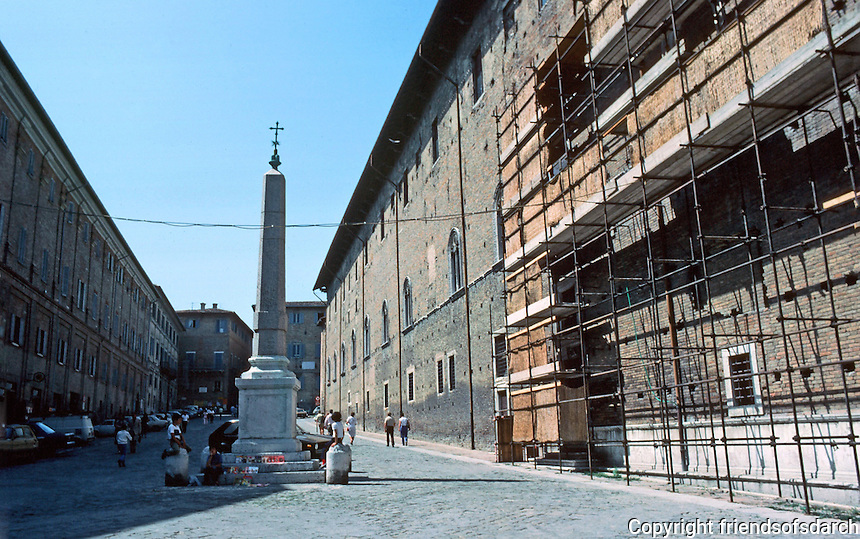Urbino:   Ducal Palace--East Facade.  Photo '83.