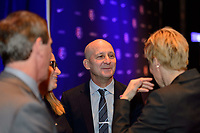 Philadelphia, PA - Thursday January 18, 2018: Paul Riley during the 2018 NWSL College Draft at the Pennsylvania Convention Center.