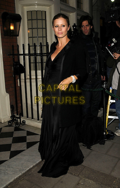 LAURA BAILEY.Finch and Partners Pre-Bafta Party held at Mark's Club, Mayfair, London, England..February 9th 2008.full length black dress coat jacket pregnant .CAP/CAN.©Can Nguyen/Capital Pictures