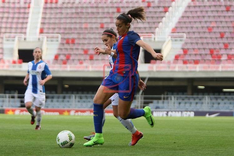 Spanish Women's Football League Iberdrola 2016/17 - Game: 21.<br /> FC Barcelona vs RCD Espanyol: 5-0.<br /> Olga Garcia vs Brenda Perez.
