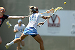 01 May 2016: North Carolina's Carly Davis scores a goal. The University of North Carolina Tar Heels played the Syracuse University Orange at Lane Stadium in Blacksburg, Virginia in the 2016 Atlantic Coast Conference Women's Lacrosse Tournament championship match. North Carolina won 15-14 in overtime.