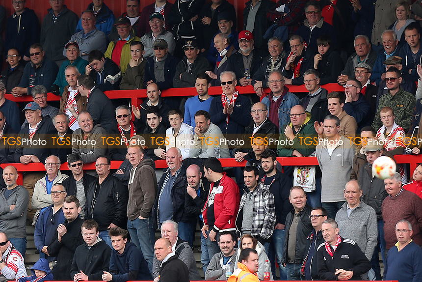 Stevenage fans look on during Stevenage vs Mansfield Town, Sky Bet EFL League 2 Football at the Lamex Stadium on 22nd April 2017
