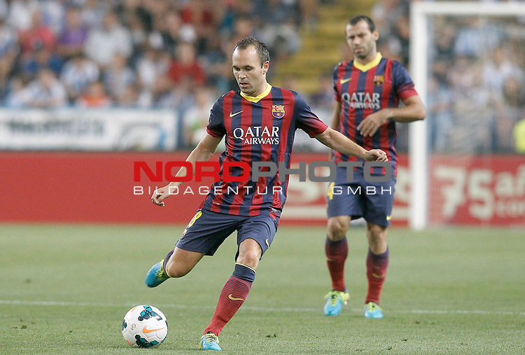 FC Barcelona's Andres Iniesta during La Liga match.August 25,2013. Foto © nph / Acero)