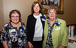 WATERBURY,  CT-051619JS23- Former School Directors at the Children's Community School, from left, Patricia A. Emons (1998-2006), Barbara Ruggiero (2007-20213) and Sister Mary Ann Powers 1987-1998) at the CCS annual dinner and 50th anniversary celebration at La Bella Vista in Waterbury. <br /> Jim Shannon Republican American