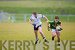 Kerry's Stephen O'Brien gets in front of IT Tralee's Padraig Og O Se in the McGrath cup at John Mitchels on Sunday.