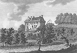 Engraving of Scottish landscapes and buildings from late eighteenth century, Sorne Castle, Scotland, UK 1791 , drawn by S Hooper