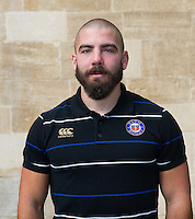 Strength and Conditioning Coach Jameson Mola poses for a portrait at a Bath Rugby photocall. Bath Rugby Media Day on September 8, 2015 at Farleigh House in Bath, England. Photo by: Rogan Thomson for Onside Images