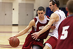 Klay Thompson drives past teammate Kikola Koprivica during a Washington State University team scrimmage at Bohler Gymnasium on the WSU campus on November 8, 2008.