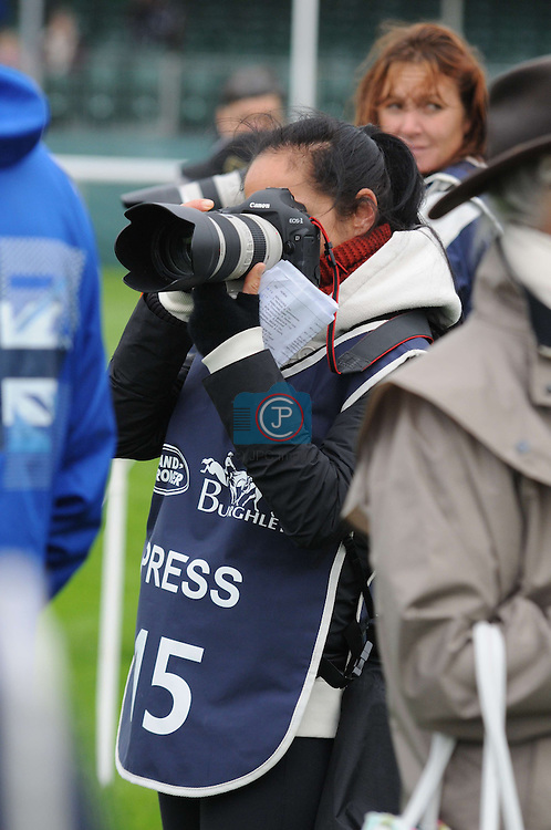 Libby Law capturing the 1st Veterinary Inspection at the 2012 Land Rover Burghley Horse Trials in Stamford, Lincolnshire, England, UK.
